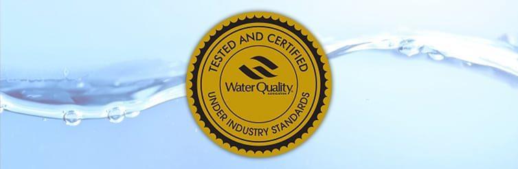 Certificate de catre Water Quality Association prin Medalia