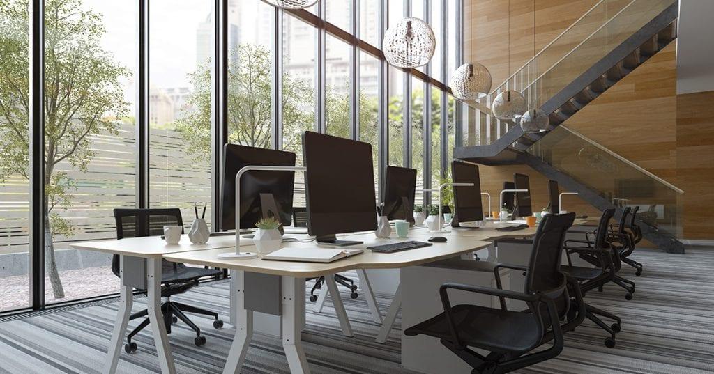 Vrei un birou modern dar n-ai bugetat un designer de interior? Reamenajezi cu doar 5 alegeri smart